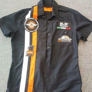 Rare! Harley Davidson University Mexico Work Shirt